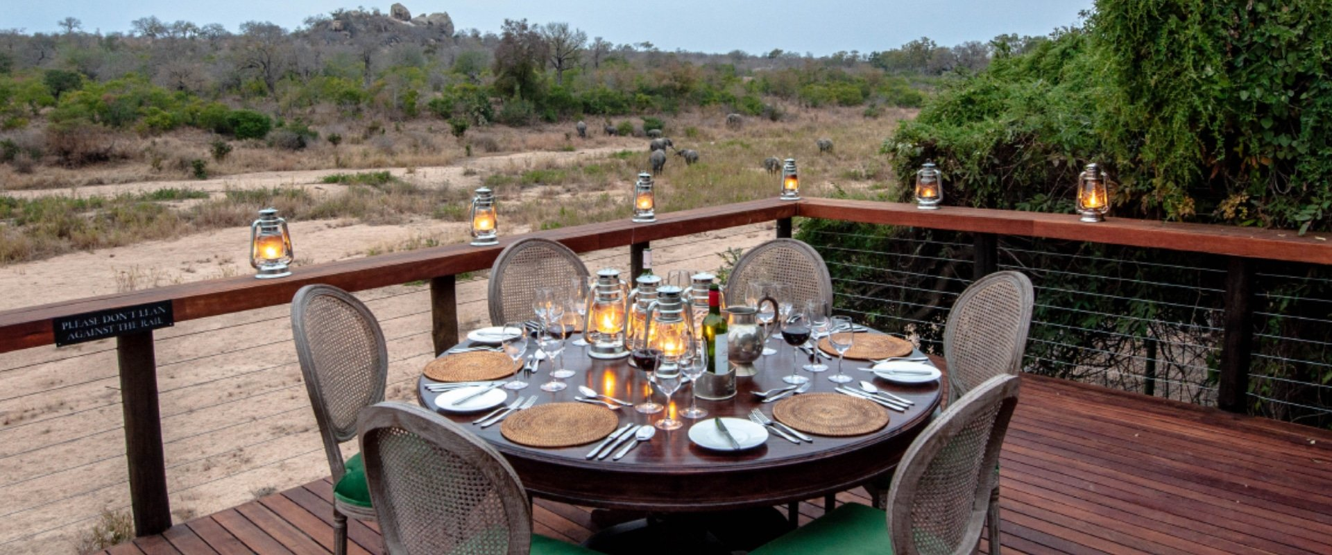 Dine under the African night sky