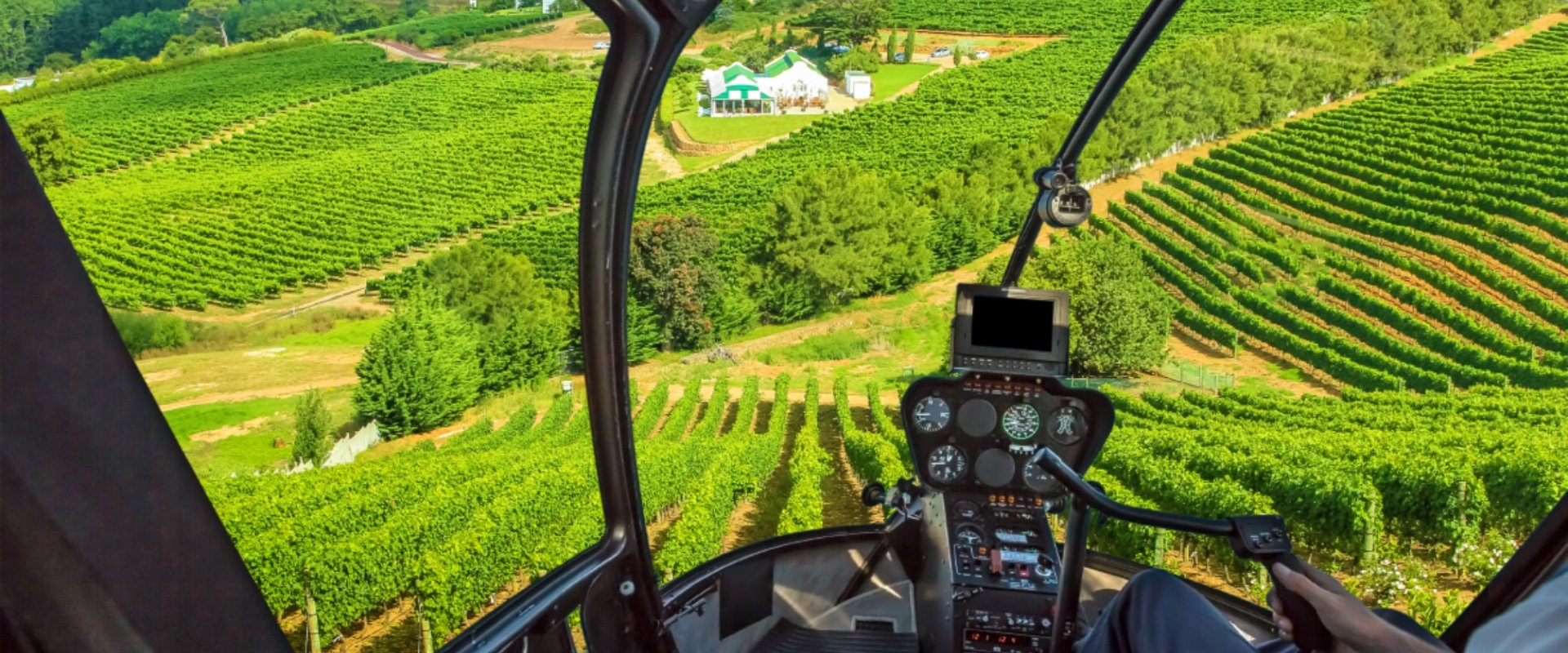 Hop in a helicopter and touch down in the winelands for a delectable lunch
