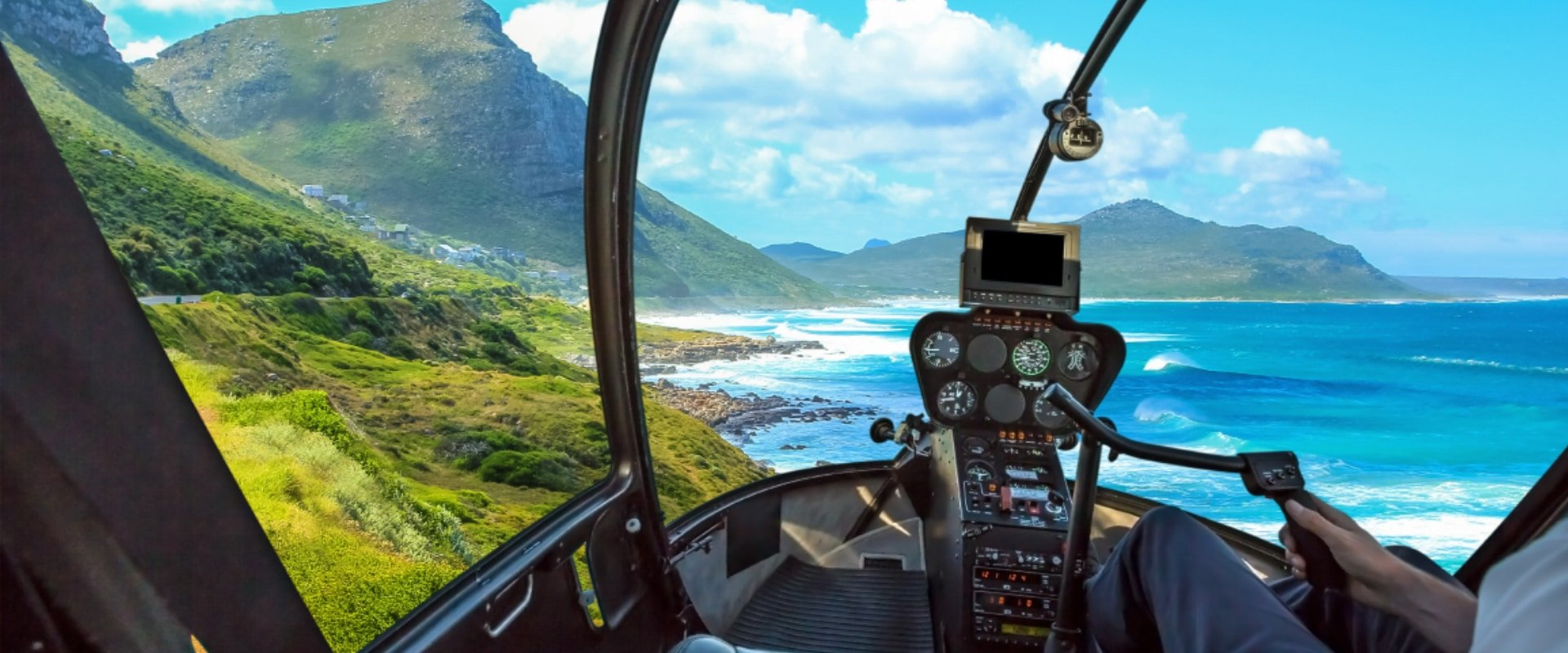 Hop on a helicopter flight for great views of the area