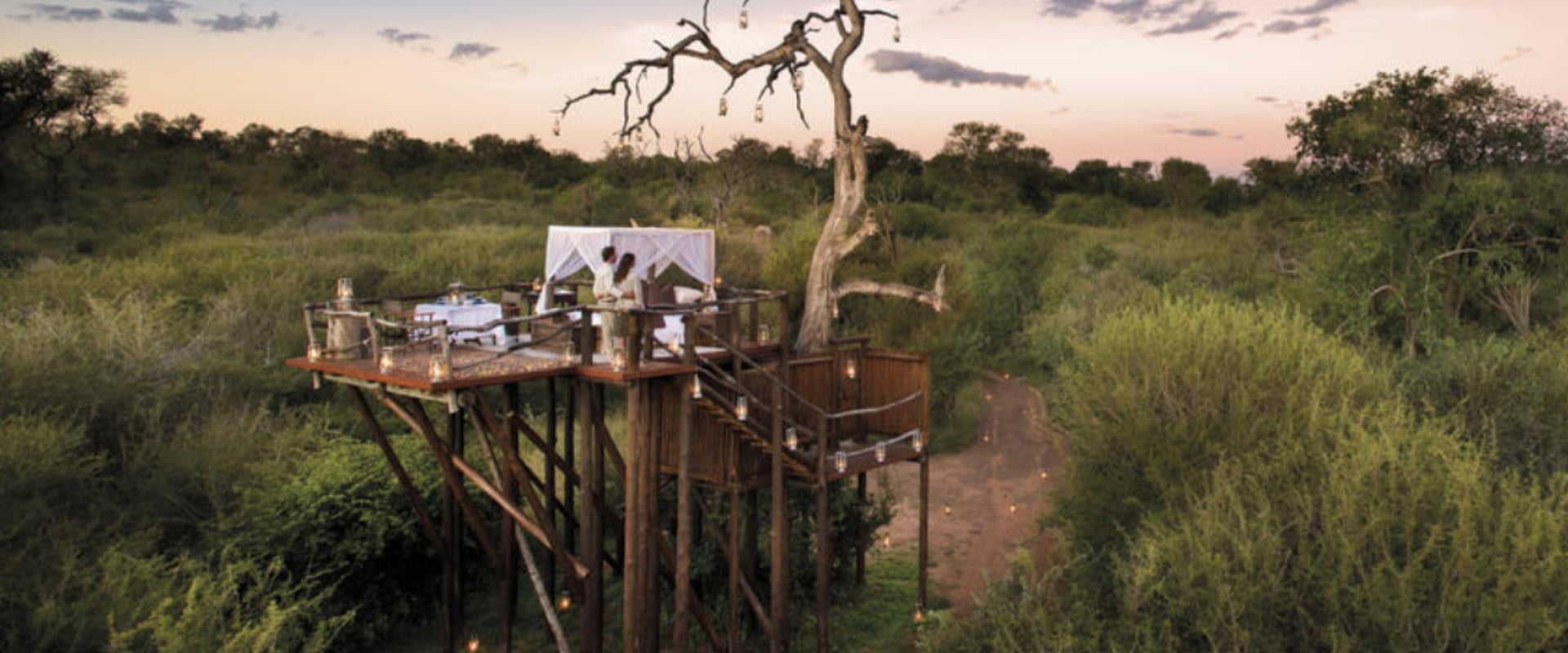 Slumber in a treehouse, under the twinkling African sky