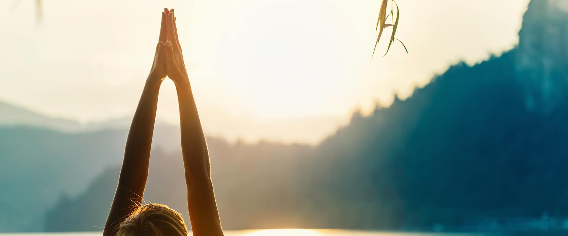 Start the day saluting the sun with some yoga stretches