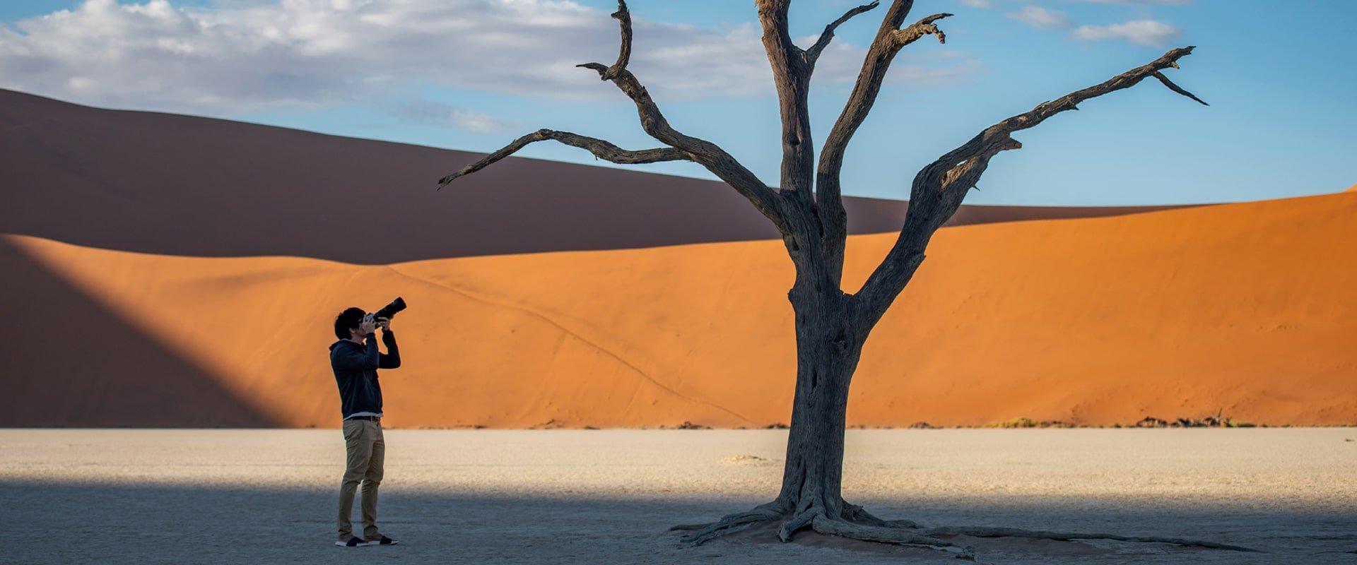 Amazing photographic opportunities in Deadvlei