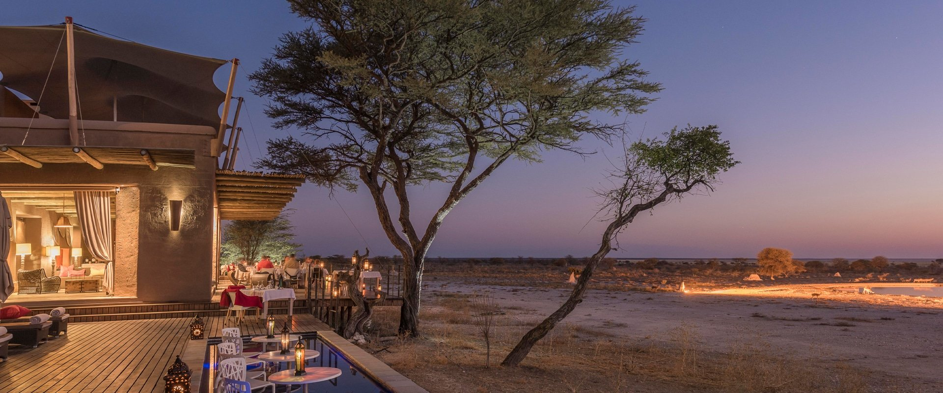 Eat dinner under a starry Namibian sky