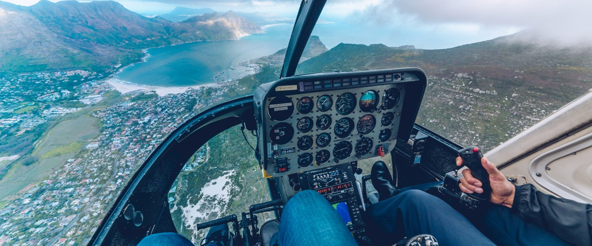 Hop in a helicopter and touch down at Cape Point for a delicious picnic