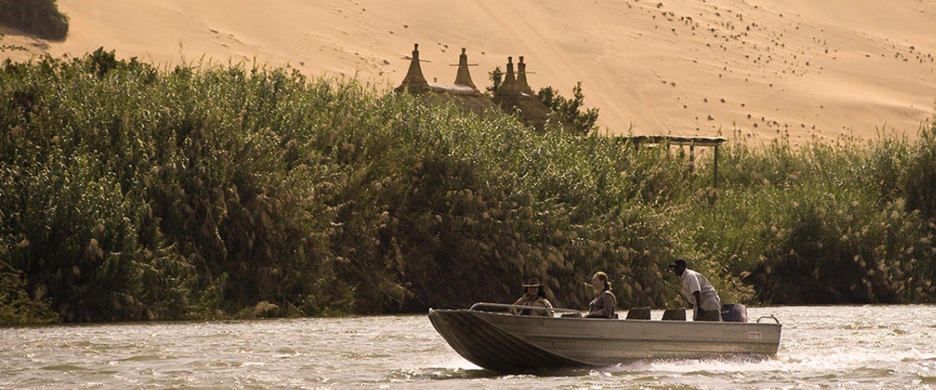 Boat on the Kunene River
