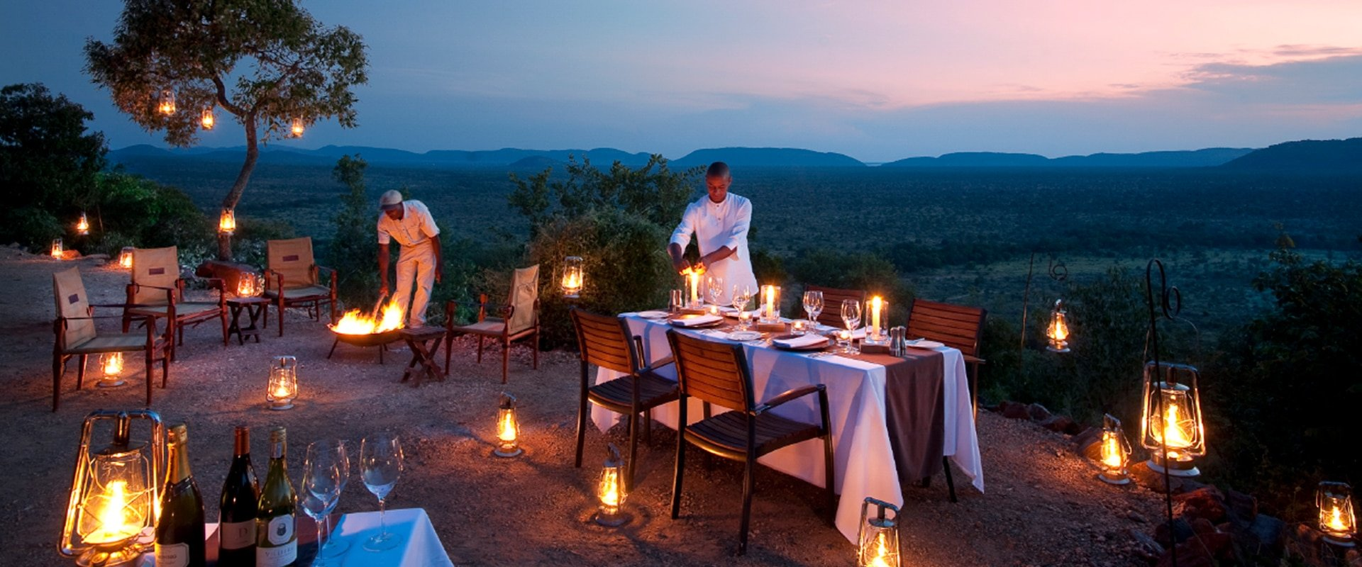 Enjoy a sensational intimate dining experience surrounded by wildlife