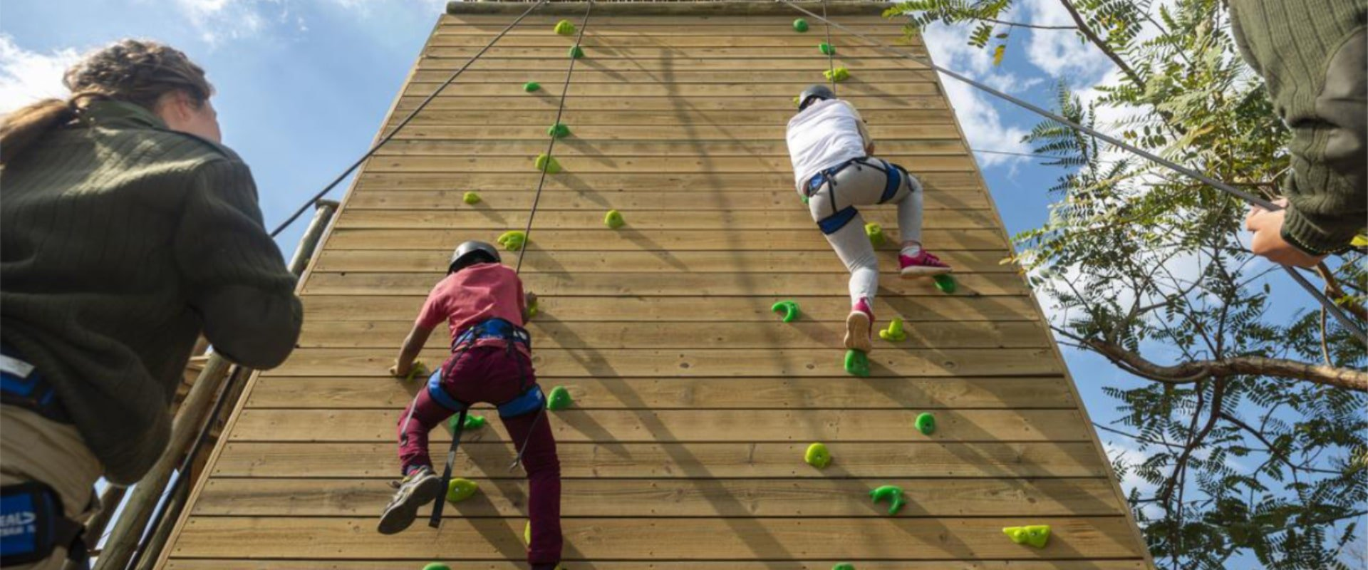 Rock climbing walls to keep little busy bodies active