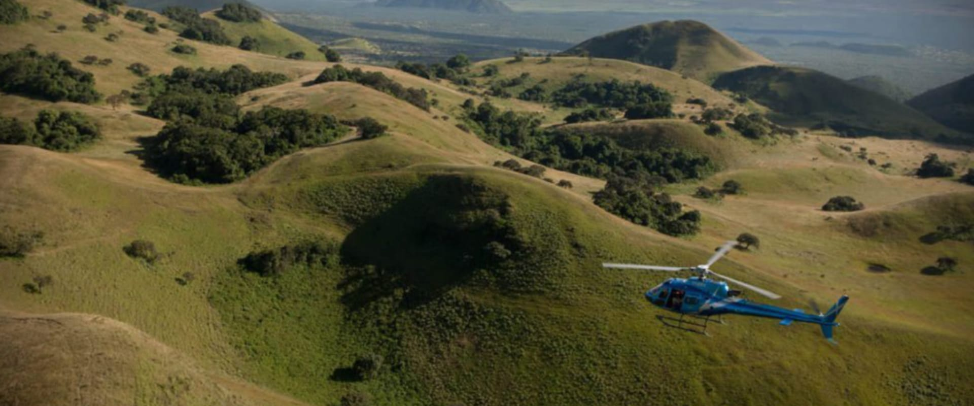 Take a helicopter tour to Mount Kenya