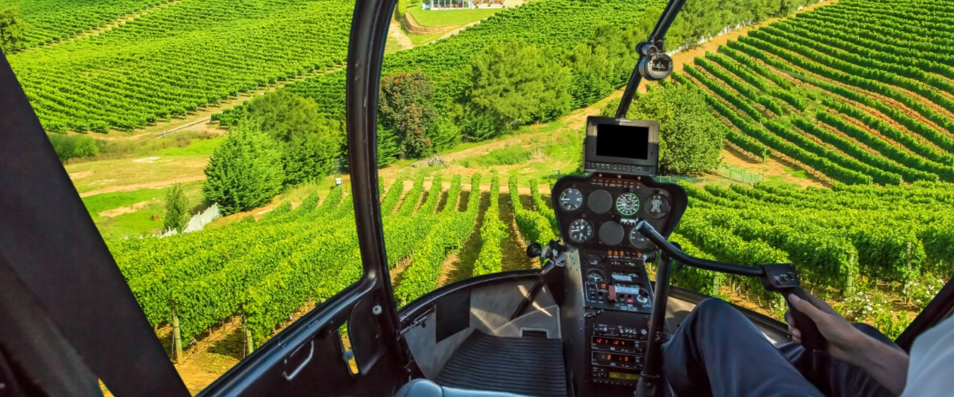View the winelands from a helicopter