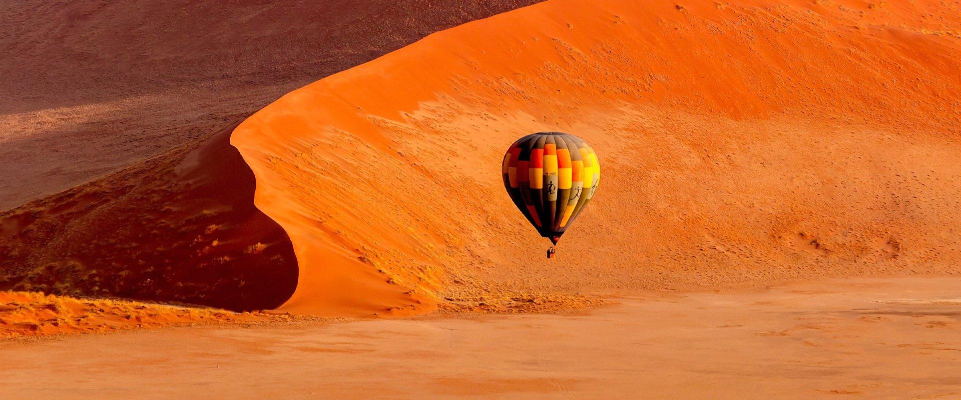 Take a hot-air balloon ride over Sossusvlei
