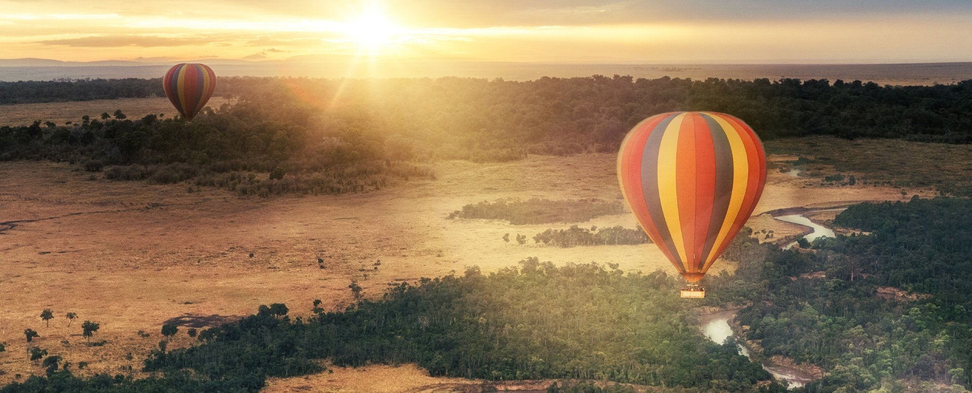 An exciting balloon flight over the Masai Mara