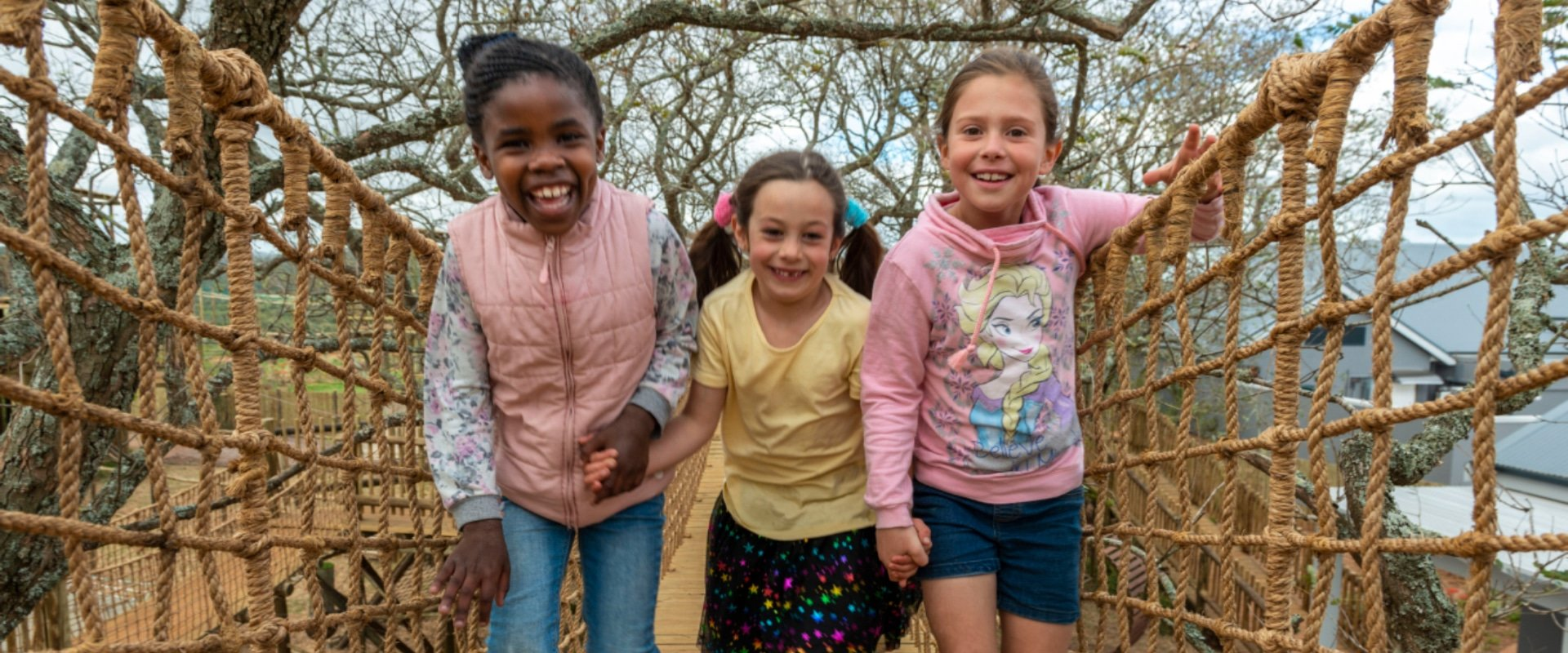 Kids get to explore the game reserve from the treetops