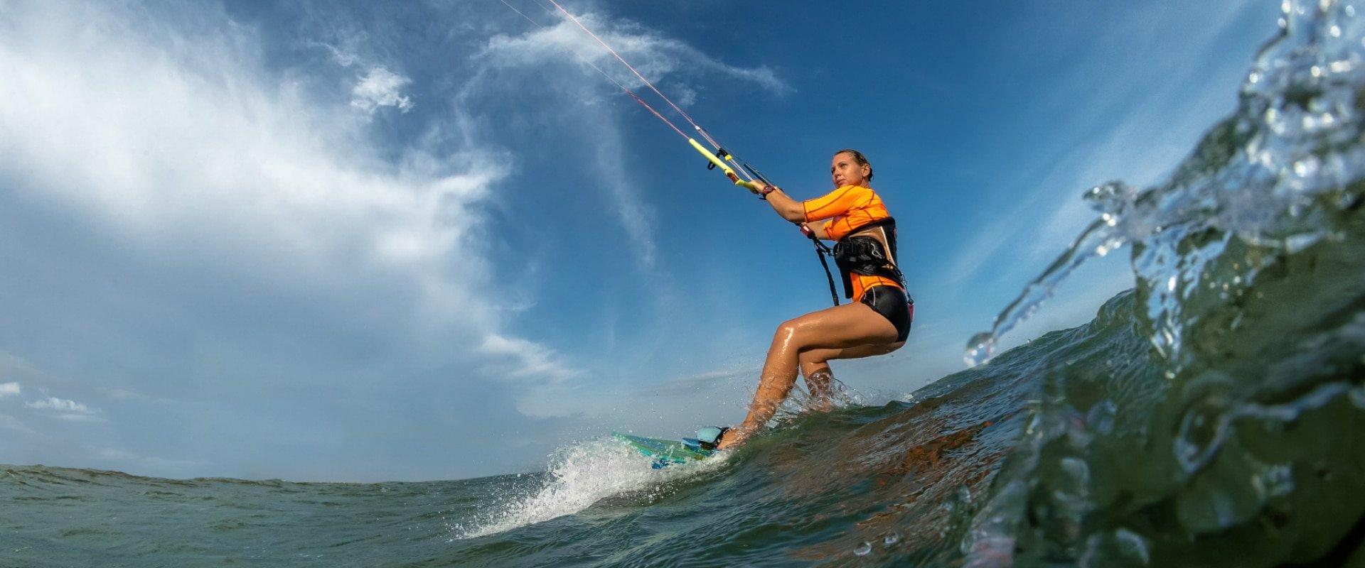 Kite-surf in warm waters