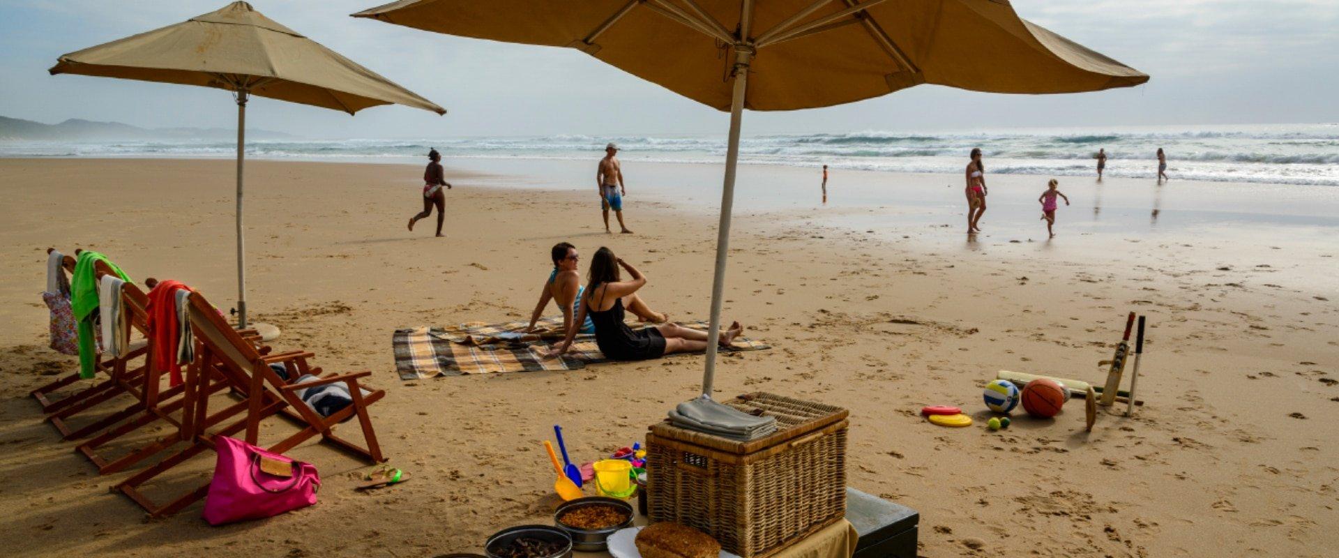 Wind down on the sunny beach