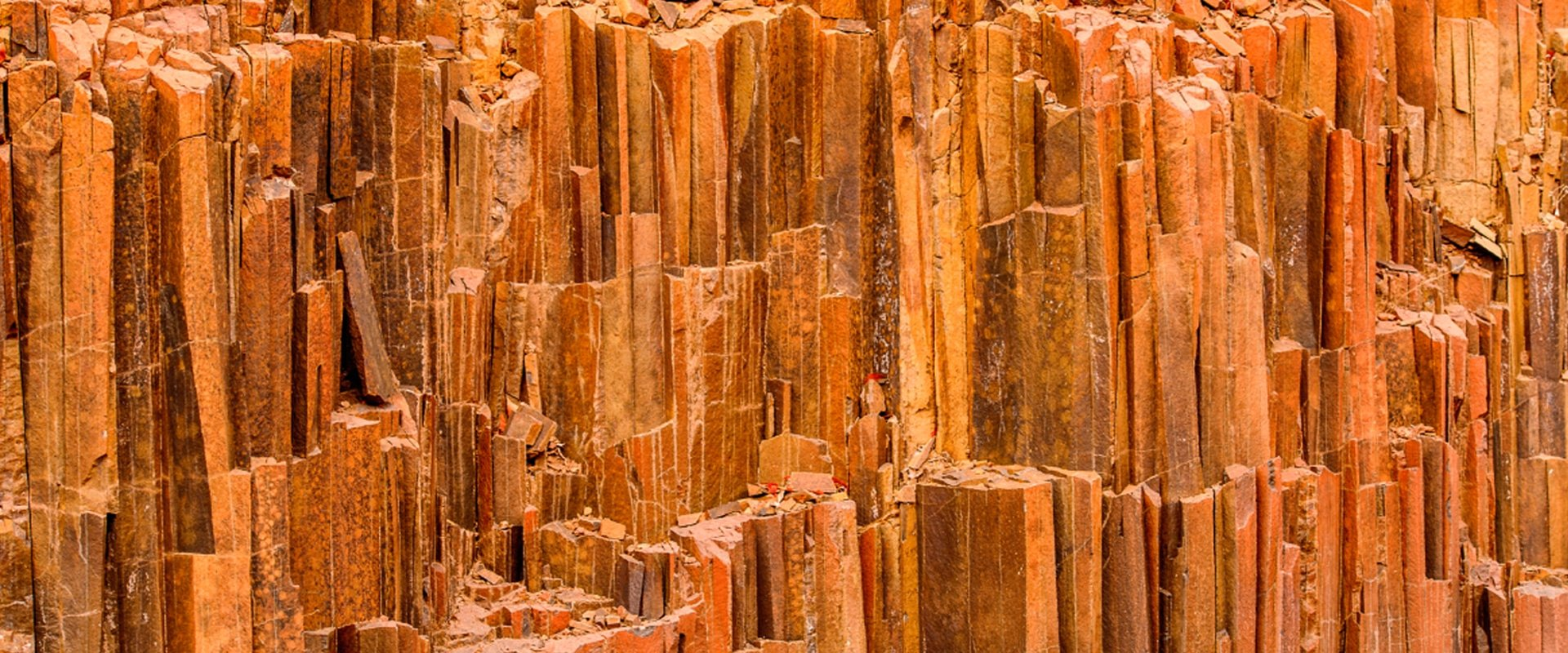 View the geological Organ Pipes formation
