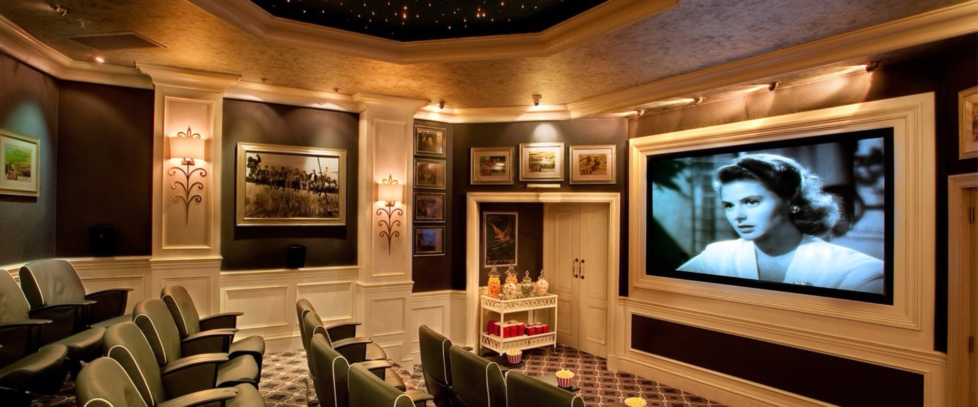Movie in a 24-seater cinema