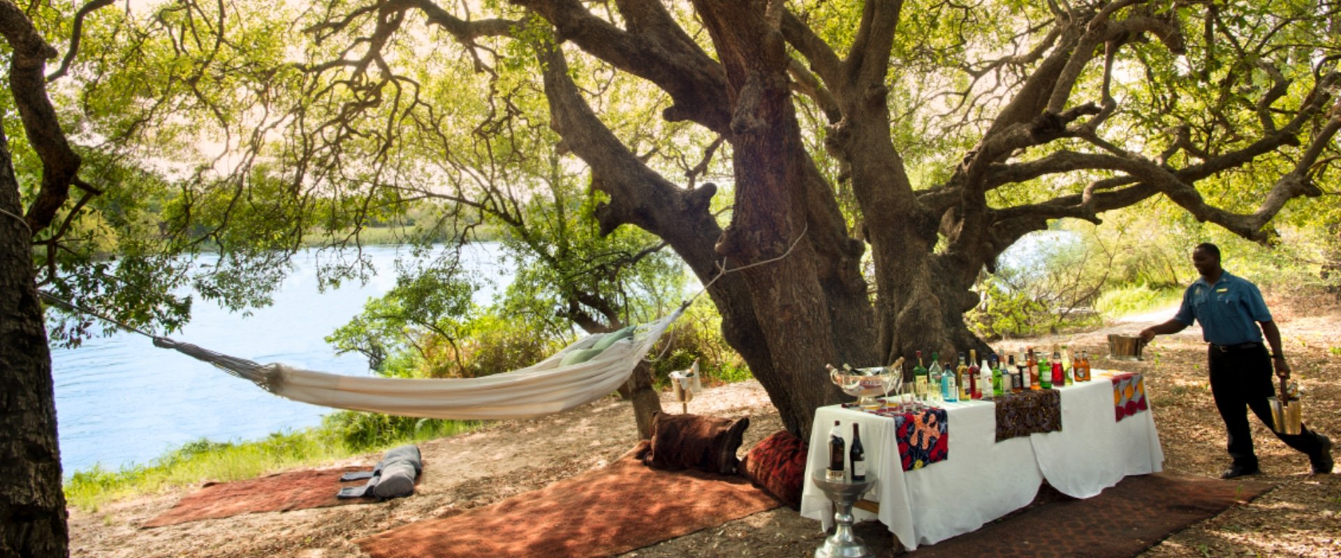 Enjoy a romantic private picnic on a lazy river day