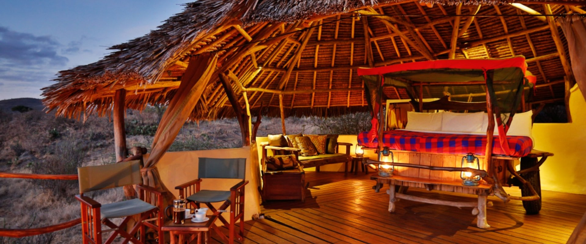 Sleep under the endless African starry sky