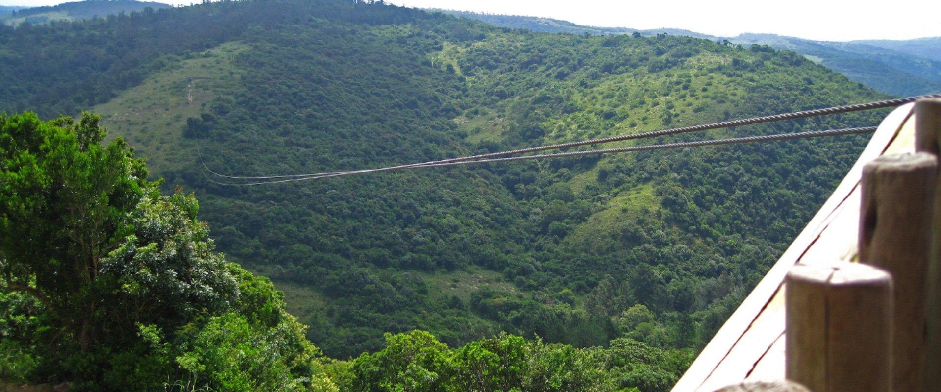 Zip Line the highest line in Africa