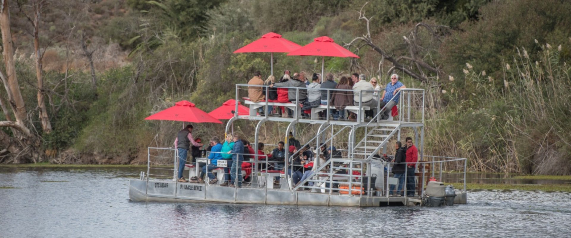 Meander along the Breede River on a boat cruise