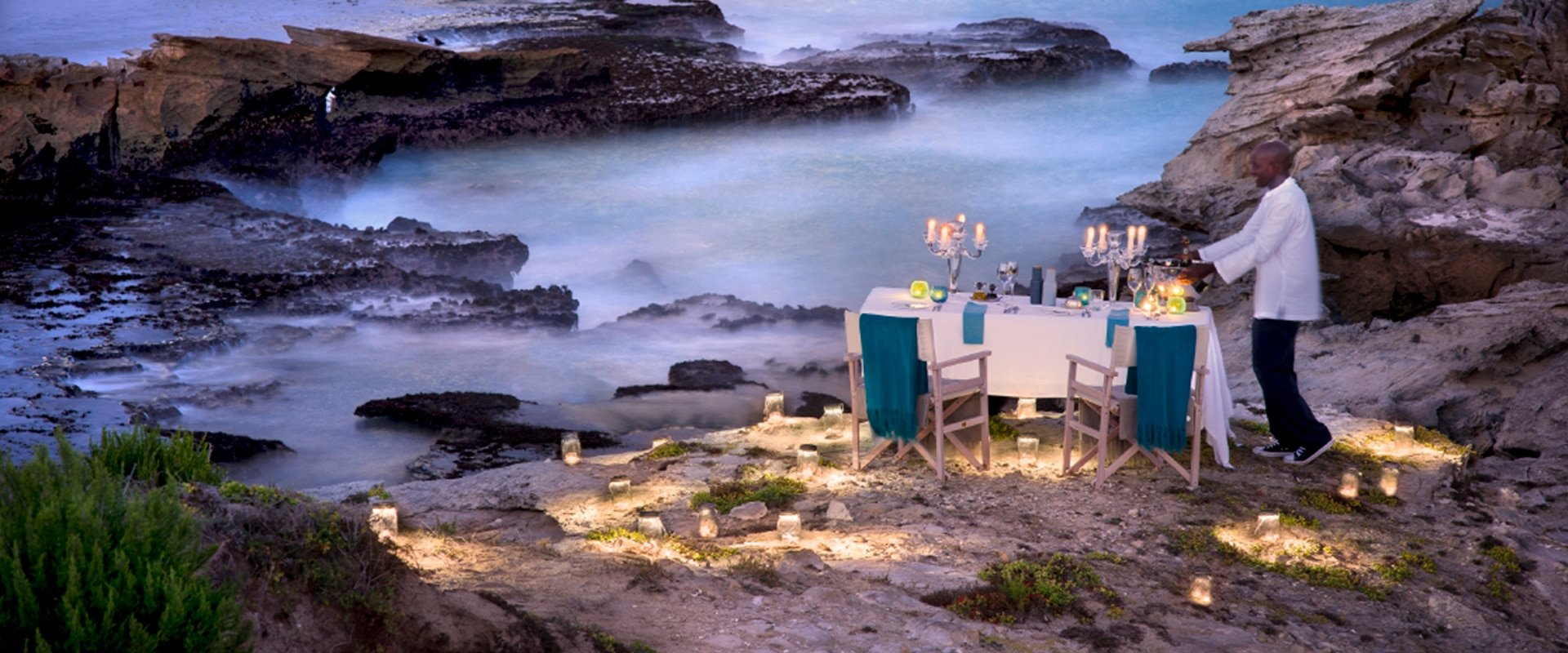 Feast in private on the beach in a nature reserve next to the alluring ocean