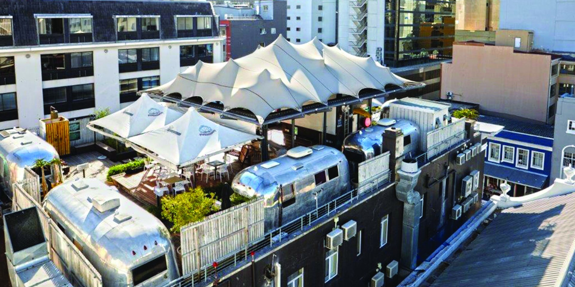 Grand Daddy Rooftop Airstream Trailers in the heart of Cape Town